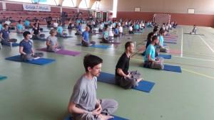 méditation gymnase plein